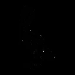 Pelican mirando hacia abajo con estilo negro