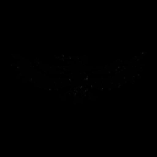 Pelican extendiendo alas elegante negro