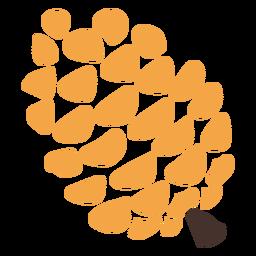 Icono de cono de pino