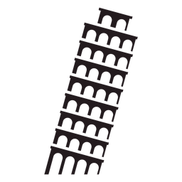 Torre inclinada de Pisa preta