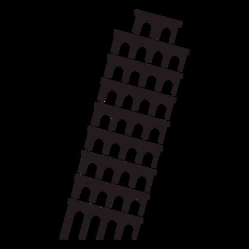 Torre inclinada de Pisa negra Transparent PNG