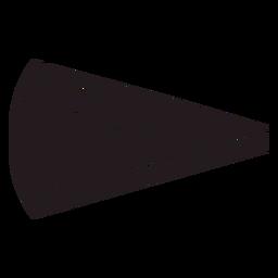 Fatia de pizza preta