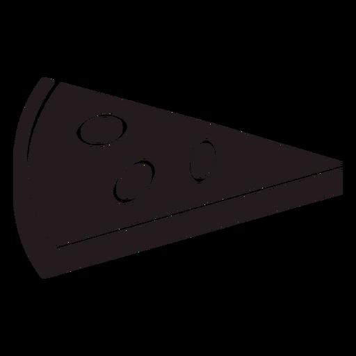 Rebanada de pizza negra Transparent PNG