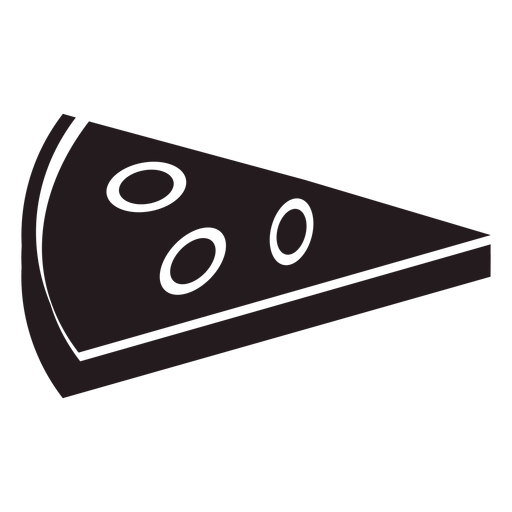 Rebanada de pizza negra