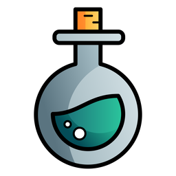 Poison round flask cartoon icon