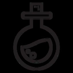 Veneno redondo icono de línea de matraz