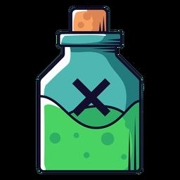 Ícone de desenho animado de frasco de veneno