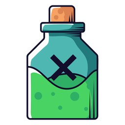 Poison vial cartoon icon