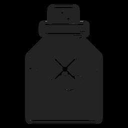 Icono de vial de veneno negro