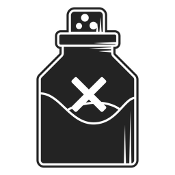 Poison vial icon black