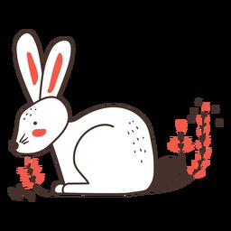 Dibujos animados de vista lateral de conejo