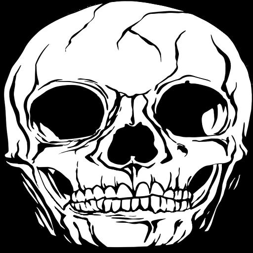 Gráfico de cráneo humano realista