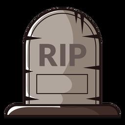 Icono de dibujos animados de lápida de rasgadura