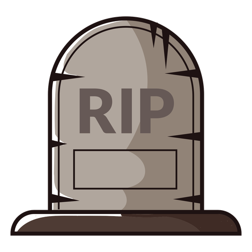 Rip gravestone cartoon icon Transparent PNG