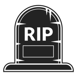 Rip gravestone icon black