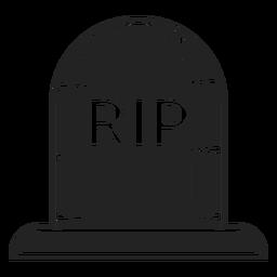Rip lápida icono negro