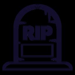 Línea de icono de lápida de rasgadura