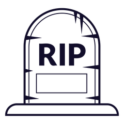 Rip gravestone icon line