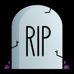 Rip tombstone icono de dibujos animados