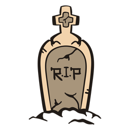 Rip tombstone hand drawn
