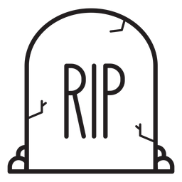 Rip tombstone line icon
