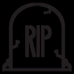 Rip tombstone line icon