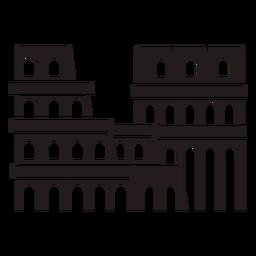 Coliseu de Roma preto