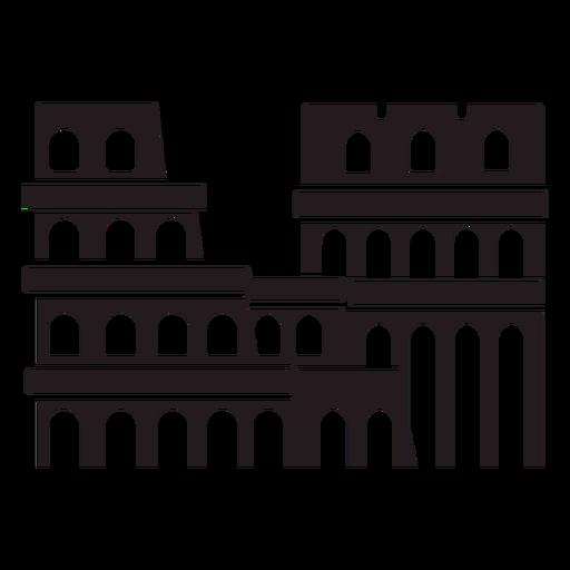 Rome colosseum black Transparent PNG