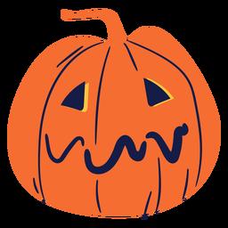 Sad carved pumpkin illustration