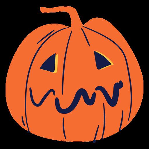 Sad carved pumpkin illustration Transparent PNG