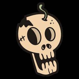 Scared skull hand drawn