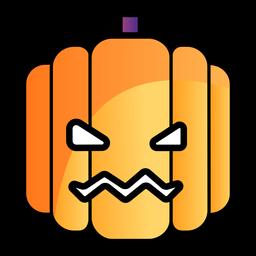 Icono de dibujos animados de calabaza de miedo
