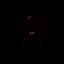 Ilustração de meio-tom de aranha assustadora