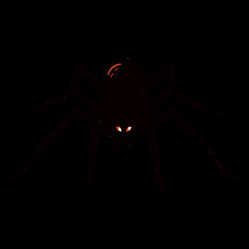 Scary spider halftone illustration