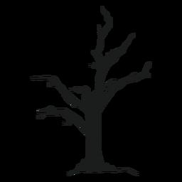 Silueta de árbol de miedo