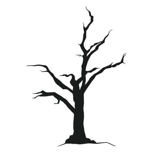 Scary tree silhouette Transparent PNG