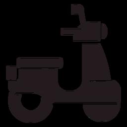 Vista lateral del scooter negro