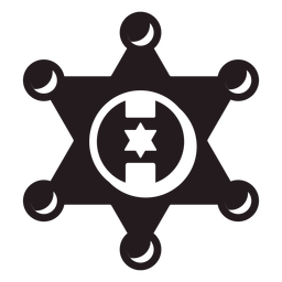 Sheriff estrella insignia negro