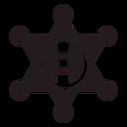 Sheriff Stern Abzeichen schwarz