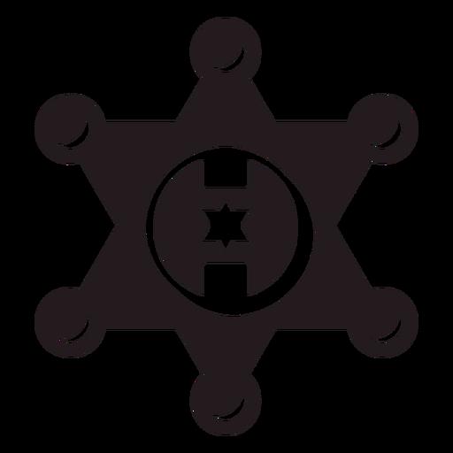 Sheriff star badge black