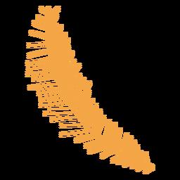 Desenho de ramo de coníferas outono simples