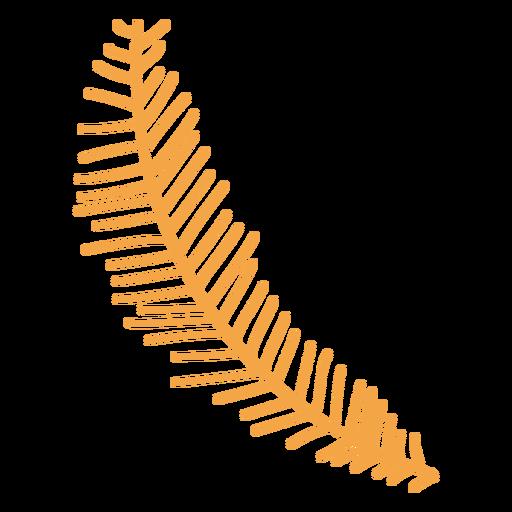 Simple autumn conifer branch cartoon Transparent PNG