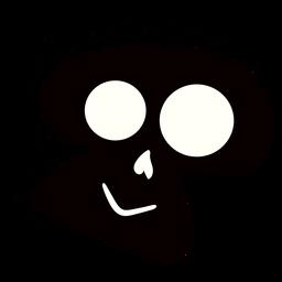 Skull halftone illustration