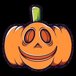 Icono de dibujos animados de calabaza tallada sonriente