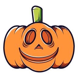 Smiley carved pumpkin cartoon icon