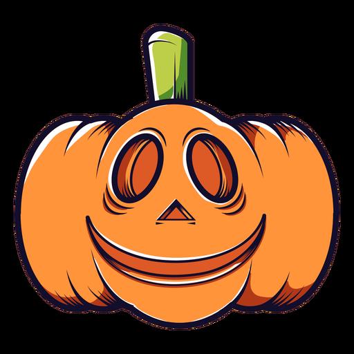 Icono de dibujos animados de calabaza tallada sonriente Transparent PNG