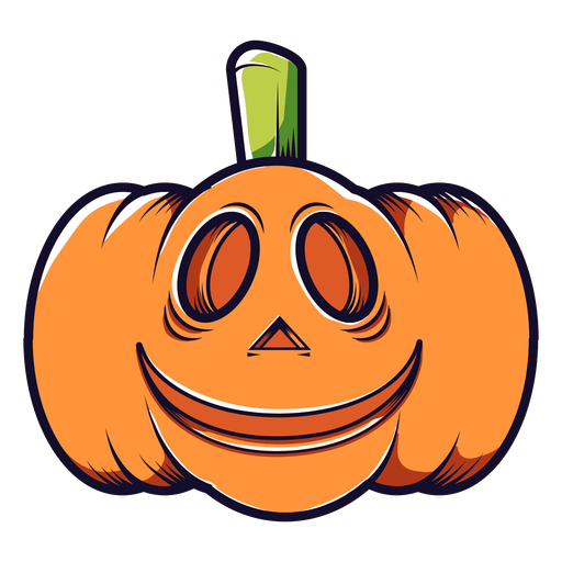 Smiley carved pumpkin cartoon icon Transparent PNG