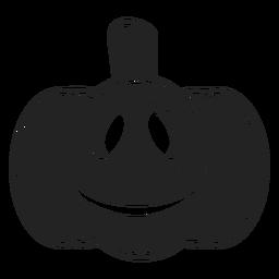 Icono de calabaza tallada sonriente negro