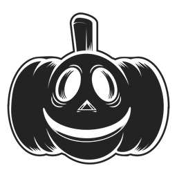 Smiley carved pumpkin icon black