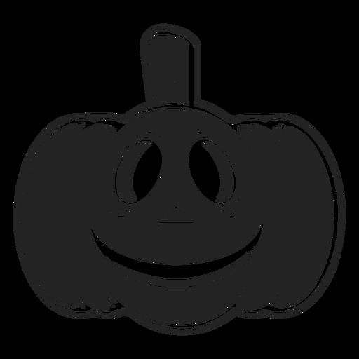Smiley calabaza tallada icono negro